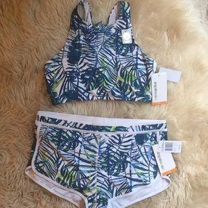 NEW 2piece swim with shirt size M